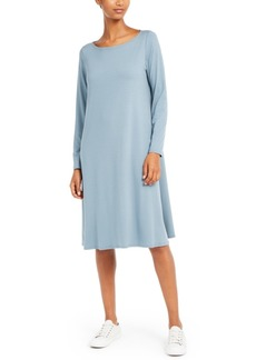 Eileen Fisher Long-Sleeve Shift Dress, Regular & Petite