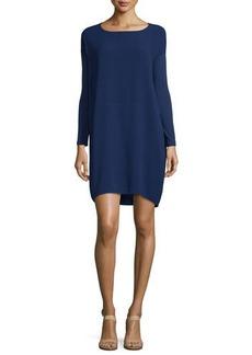 Eileen Fisher Long-Sleeve Silk Dress