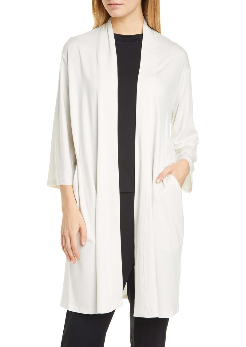 Eileen Fisher Long Stretch Tencel® Lyocell Cardigan