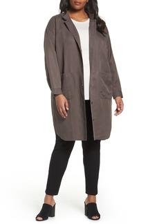 Eileen Fisher Long Tencel® & Linen Jacket (Plus Size)