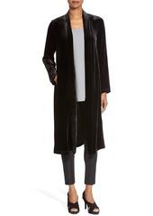 Eileen Fisher Long Velvet Jacket (Regular & Petite)