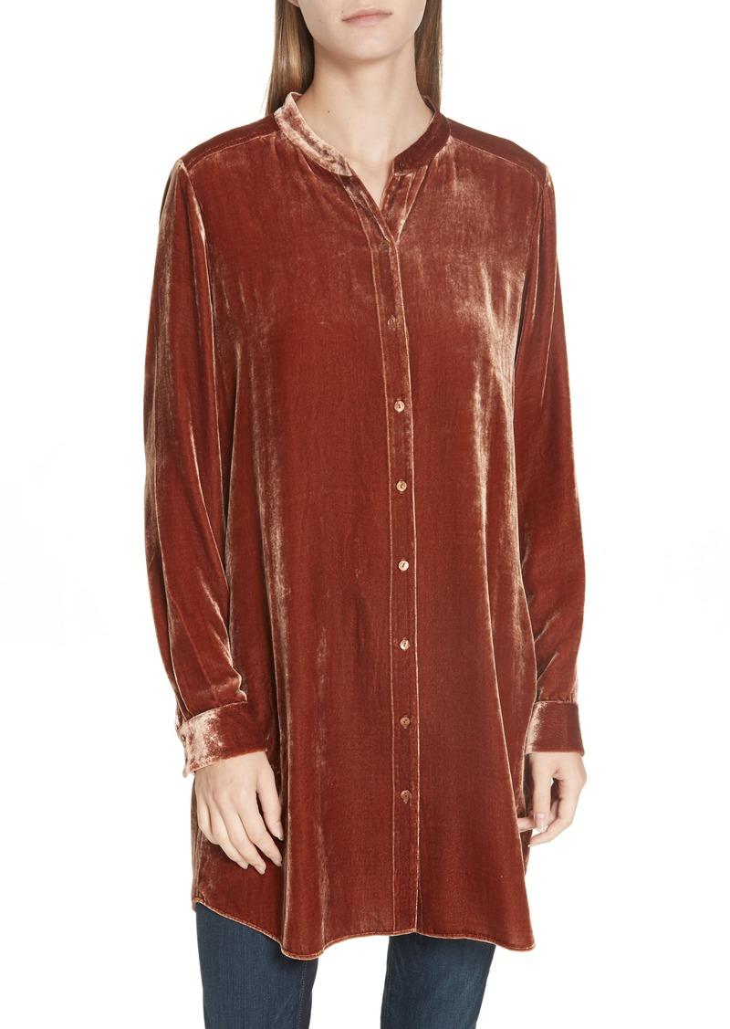 91d75d3087488 Eileen Fisher Eileen Fisher Long Velvet Shirt