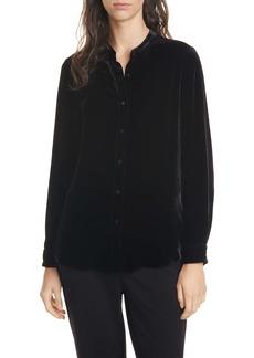 Eileen Fisher Long Velvet Shirt (Regular & Petite)