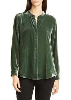 Eileen Fisher Long Velvet Shirt (Regular & Petite)