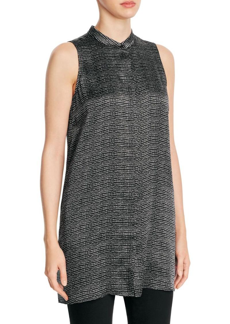 b19242745d9 Eileen Fisher Eileen Fisher Mandarin Collar Dotted Silk Tunic ...