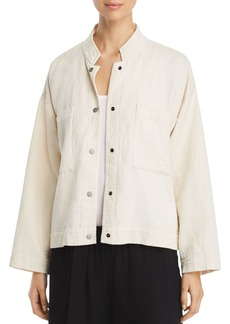 Eileen Fisher Mandarin Collar Jacket