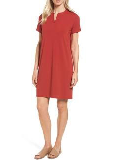 Eileen Fisher Mandarin Collar T-Shirt Dress (Regular & Petite) (Nordstrom Exclusive)