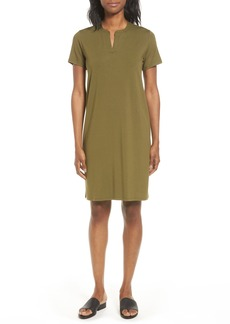 Eileen Fisher Mandarin Collar T-Shirt Dress (Regular & Petite) (Nordstrom Exclusive)
