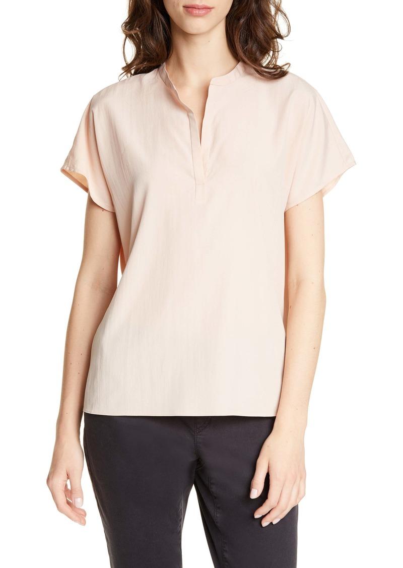 Eileen Fisher Mandarin Collar Top