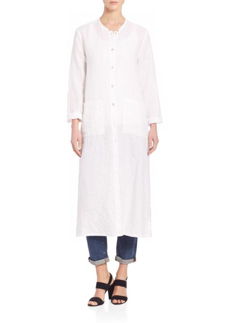 Eileen Fisher Mandarin Organic Linen Long Tunic