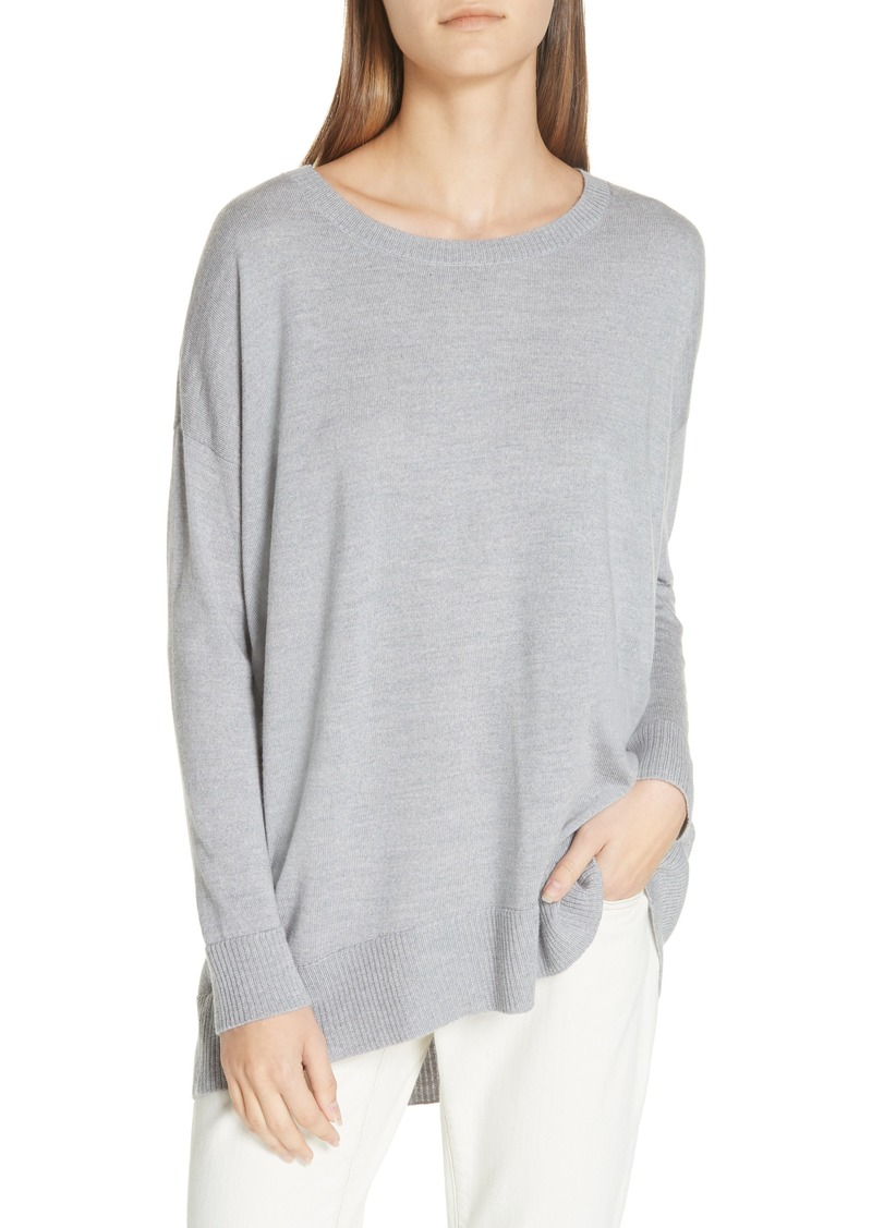 5075fa75a468 Eileen Fisher Eileen Fisher Merino Jersey Ballet Neck Tunic | Sweaters