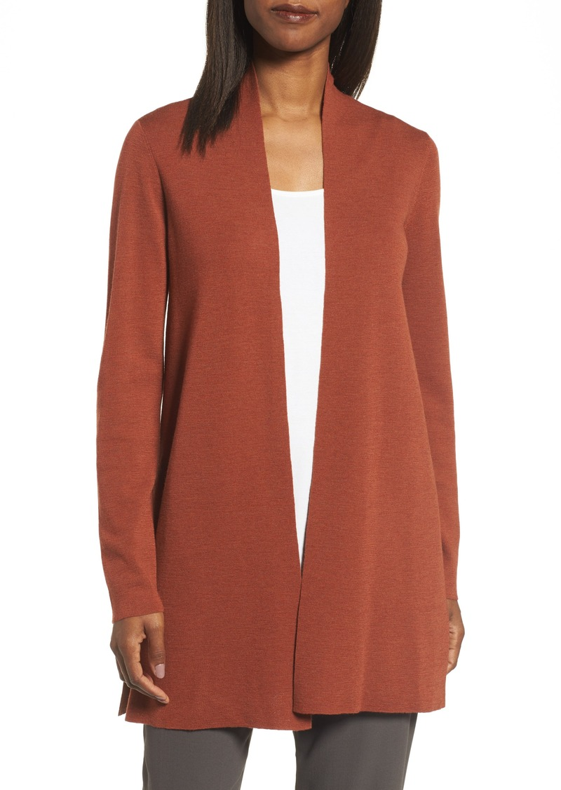 Eileen Fisher Eileen Fisher Merino Straight Long Cardigan (Regular ...