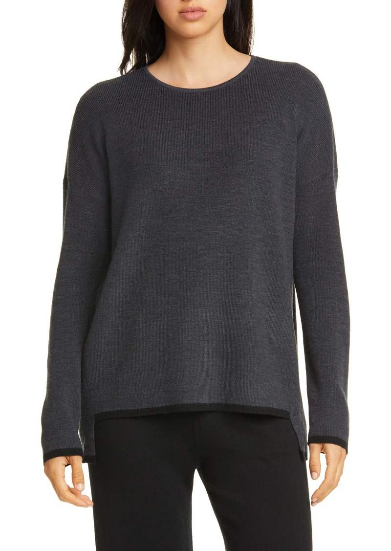 Eileen Fisher Merino Wool Box Top