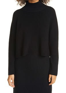 Eileen Fisher Merino Wool Crop Turtleneck Sweater