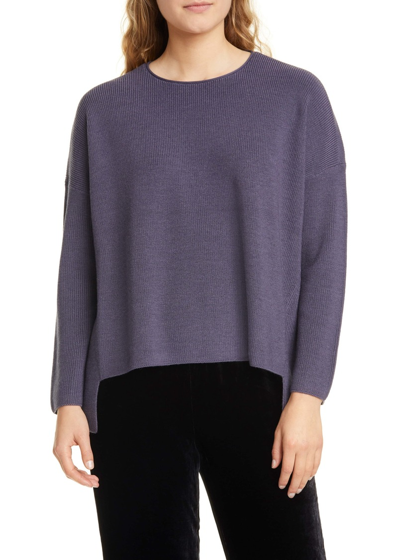 Eileen Fisher Merino Wool High/Low Top (Regular & Petite)