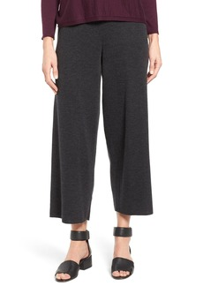 Eileen Fisher Merino Wool Jersey Straight Leg Crop Pants (Regular & Petite)