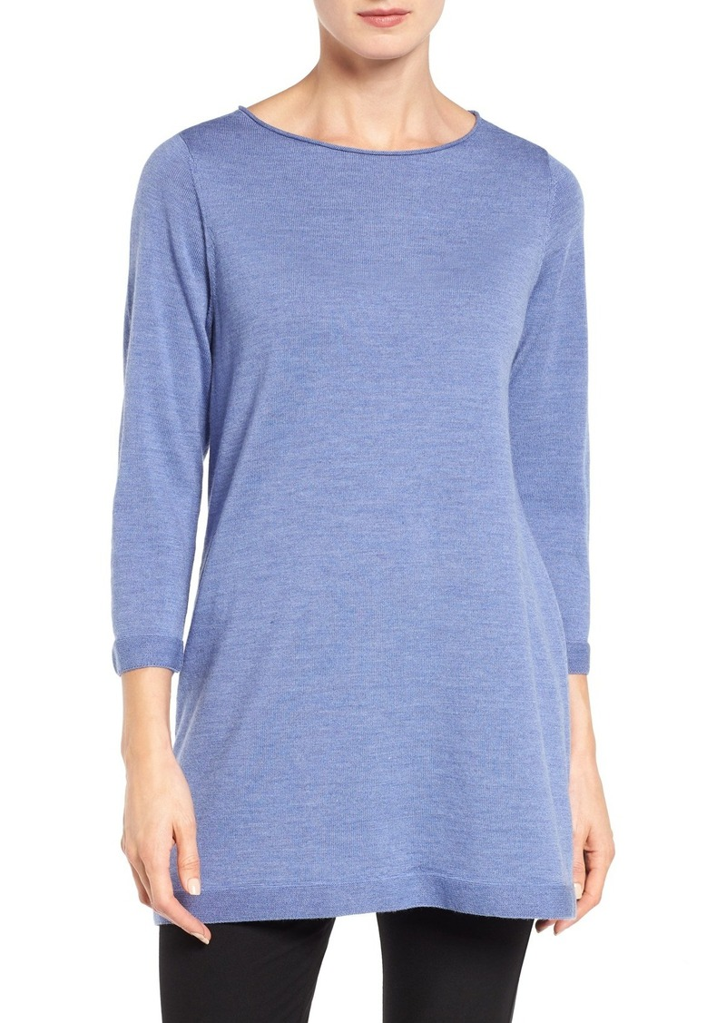 Eileen Fisher Eileen Fisher Merino Wool Jersey Tunic Sweater ...