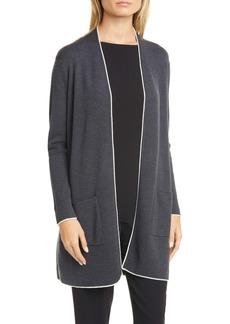 Eileen Fisher Merino Wool Long Cardigan