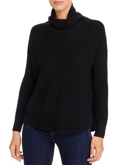 Eileen Fisher Merino Wool Ribbed Cowl-Neck Sweater