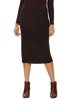 Eileen Fisher Merino Wool Ribbed Pencil Skirt