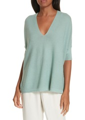 Eileen Fisher Merino Wool Three Quarter Sleeve Sweater (Regular & Petite)
