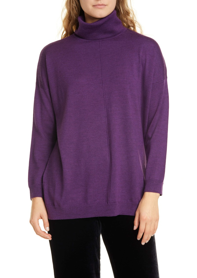 Eileen Fisher Merino Wool Turtleneck Sweater