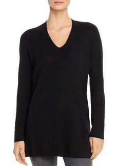Eileen Fisher Merino Wool V-Neck Tunic Sweater