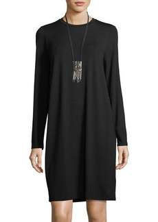 Eileen Fisher Crewneck Jersey Shift Dress
