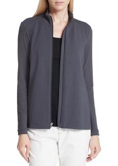 Eileen Fisher Mixed Organic Cotton Stretch Knit Jacket (Regular & Petite)