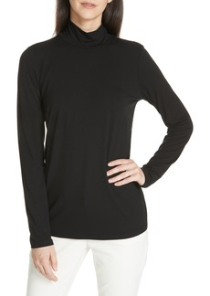 Eileen Fisher Mock Neck Jersey Top