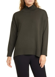 Eileen Fisher Mock Neck Oversize Sweater