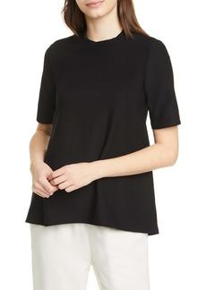 Eileen Fisher Mock Neck Short Sleeve Top