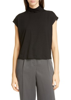 Eileen Fisher Mock Neck Stretch Tencel® Lyocell Top