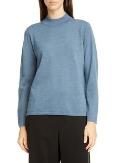 Eileen Fisher Mock Neck Wool Sweater