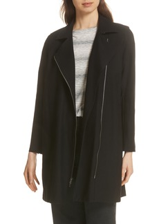 Eileen Fisher Long Moto Jacket (Regular & Petite)