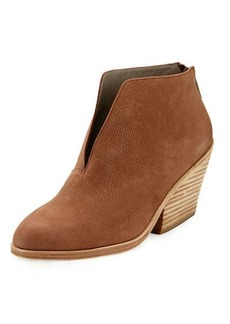 Eileen Fisher Nelson Split-Front Leather Bootie