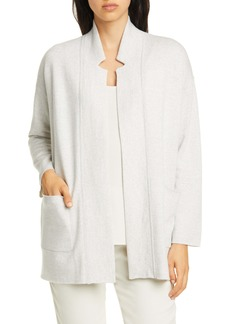 Eileen Fisher Notch Collar Cardigan (Regular & Petite)