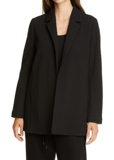Eileen Fisher Notch Collar Jacquard Blazer