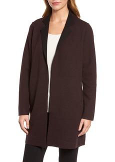 Eileen Fisher Notch Collar Merino Wool Topper (Regular & Petite)