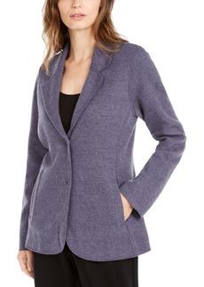 Eileen Fisher Notch Collar Shaped Jacket