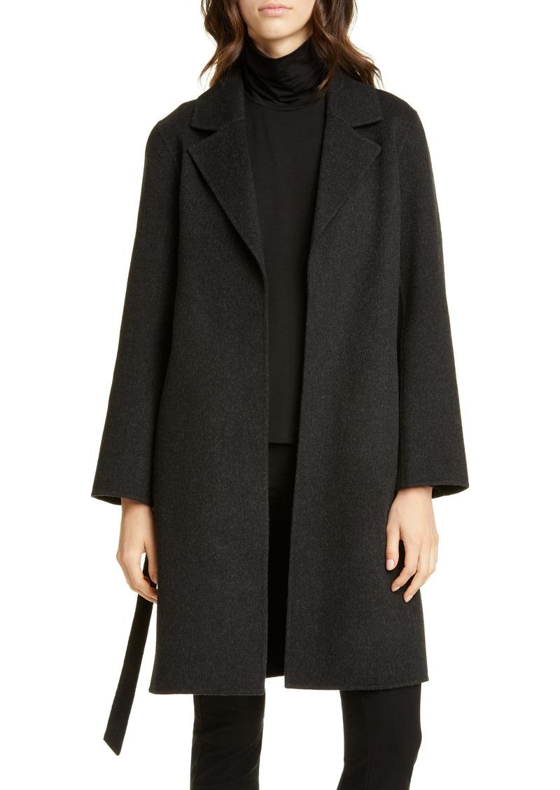 Eileen Fisher Notch Collar Wool & Cashmere Coat