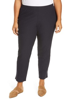 Eileen Fisher Notch Cuff Slim Crop Pants (Plus Size)