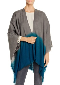 Eileen Fisher Ombr� Fringe-Trim Poncho