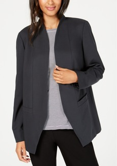 Eileen Fisher Open-Front Angled Tencel Blazer