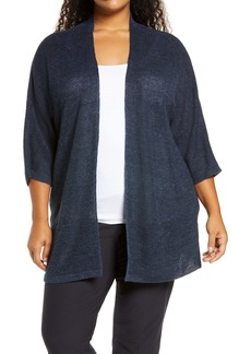 Eileen Fisher Open Front Cardigan (Plus Size)