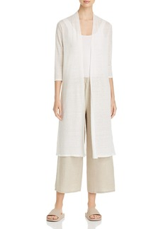 Eileen Fisher Open-Front Duster Cardigan