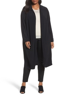Eileen Fisher Open Front Duster Jacket (Plus Size)