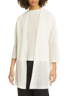 Eileen Fisher Open Front Organic Cotton Long Cardigan