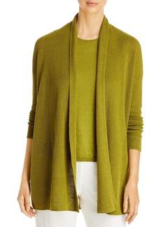 Eileen Fisher Open Front Organic Linen & Cotton Cardigan