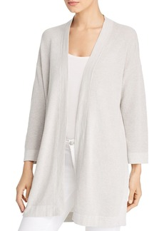 Eileen Fisher Open-Front Waffle-Knit Cardigan